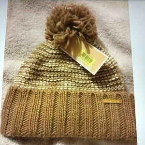 Michael KORS Fashion Knit Fold Over Beanie Hat NWT